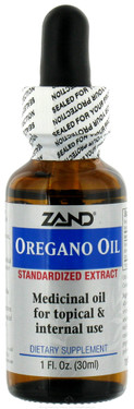 Buy Oregano Oil Standardized 1 oz Zand Online, UK Delivery