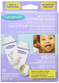 Buy Breast Milk Storage Bags 25 Pre-Sterilized Bags Lansinoh Online, UK Delivery, Baby Bottle Feeding