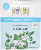 Buy Aromatherapy Mineral Bath Refreshing Peppermint 2.5 oz Aura Cacia Online, UK Delivery, Bath Salts