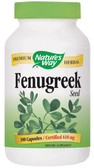 Fenugreek Seed 610 mg 180 Caps, Nature's Way, Soothing