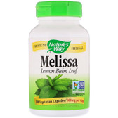 Melissa Leaves Lemon Balm 500mg 100 Caps Nature's Way, Digestion