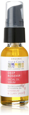 Buy Aura Cacia Deep Rosehip Facial Oil Serum ORGANIC 1 oz Online, UK Delivery, Skin Serums All Skin Types