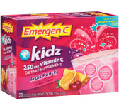 Buy Emergen C Kids Fruit Punch 30 PKT Alacer Online, UK Delivery, Vitamin C Supplements for Children Remedy