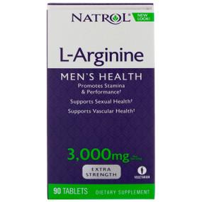Natrol L-Arginine 90 Tabs 3000 mg per Serving, UK Store