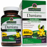Buy Damiana Leaf 90 Caps Nature's Answer Libido Wellness Online, UK Delivery, Herbal Remedy Natural Treatment