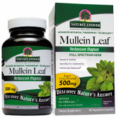 Buy Mullein Leaf 90 Caps Nature's Answer Respiratory Congestion Online, UK Delivery, Lung Bronchial Remedy Relief Respiratory Treatment Mullein Formulas