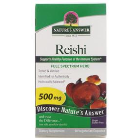 Buy Nature's Answer Reishi Mushroom Mycelia 90 Caps Online, UK Delivery, Immune Support Mushrooms