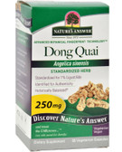 Buy Dong Quai Root Standardized 60 vegicaps Nature's Answer Online, UK Delivery, Menopause Symptoms Hot Flashes Night Sweats Mood Swings Natural Herbal Treatment Relief Remedies Dong Quai