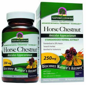 Buy Horsechestnut Seed Standardized 90 vegicaps Nature's Answer Online, UK Delivery