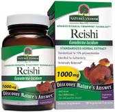 Buy Reishi Mushroom Standardized 60 vegicaps Nature's Answer Online, UK Delivery, Immune Support Mushrooms