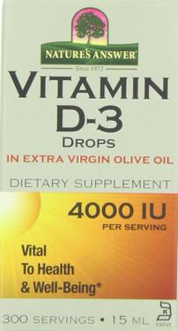 Buy Vitamin D-3 Drops 4000IU 0.5 oz Nature's Answer Online, UK Delivery, Liquid Vitamin D3