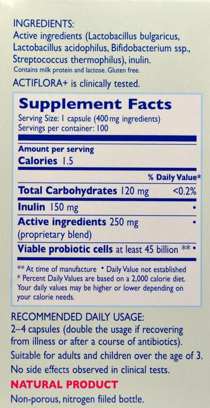 Buy Acti Flora+ Prebiotic 45bil cap 100 Caps Kendy online, UK delivery