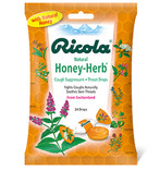 Buy Cough Drops Honey Herb 3 oz bg Ricola Online, UK Delivery, Throat Care Spray