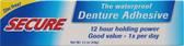 Secure Waterproof Denture Adhesive 1.4 oz (40 g), A. Vogel,