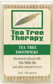 Tea Tree Toothpicks 100 ct, Tea Tree Therapy, Birchwood infused w/ Tea Tree Oil