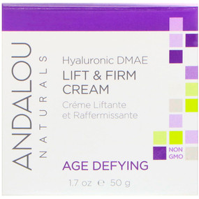 Buy Hyaluronic DMAE Lift & Firm Cream 1.7 oz Andalou Online, UK Delivery, Day Creams Vegan Cruelty Free Product