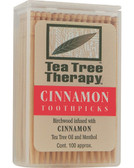 Cinnamon Toothpicks 100 ct, Tea Tree Therapy, UK Supplements