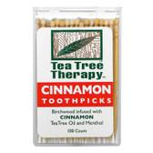 Cinnamon Toothpicks 100 ct, Tea Tree Therapy, UK Supplements