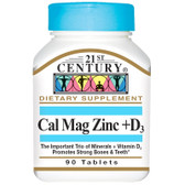 Buy Cal Mag Zinc + D3 90 Tabs 21st Century Health Online, UK Delivery, Mineral Supplements