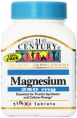 Buy Magnesium 250 mg 110 Tabs 21st Century Health Online, UK Delivery, Mineral Supplements