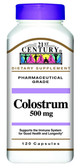 Buy Colostrum 500 mg 120 Caps 21st Century Health Online, UK Delivery, Bovine Colostrum