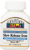 Buy Slow Release Iron 60 Tabs 21st Century Health Online, UK Delivery, Mineral Supplements