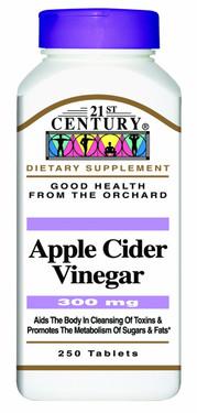Buy Apple Cider Vinegar 300 mg 250 Tabs 21st Century Health Online, UK Delivery, Apple Cider Vinegar