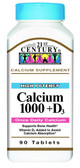 Buy Calcium 1000 +D D3 90 Coated Caplets 21st Century Health Online, UK Delivery, Mineral Supplements