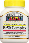 Buy B-50 Complex 60 Tabs 21st Century Health Online, UK Delivery, Vitamin B Complex