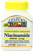 Buy Niacinamide 500 mg 110 Tabs 21st Century Health Online, UK Delivery, Vitamin B3 Niacinamide