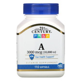 Buy Vitamin A 10000 IU 110 sGels 21st Century Health Online, UK Delivery, Vitamin A