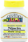 Buy Niacin Inositol Hexanicotinate 500 mg 110 Caps 21st Century Health Online, UK Delivery, Cardiovascular Cholesterol Balance Support Flush Free Niacin Treatment