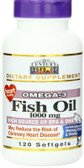 Buy Fish Oil 1000 mg 120 sGels 21st Century Health Online, UK Delivery, EFA Omega EPA DHA