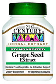 Buy Grape Seed Extract 60 Veggie Caps 21st Century Health Online, UK Delivery, Antioxidant