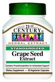 Buy Grape Seed Extract 60 Veggie Caps 21st Century Health Online, UK Delivery, Antioxidant