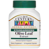 Buy Olive Leaf Extract Standardized 60 Veggie Caps 21st Century Health Online, UK Delivery, Cold Flu Remedy Relief Viral Treatment Olive Leaf Formulas Immune Support