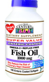 Buy Fish Oil 1000 mg 180 Enteric Coated sGels 21st Century Health Online, UK Delivery, EFA Omega EPA DHA