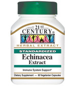 Buy Echinacea Extract 60 Veggie Caps 21st Century Health Online, UK Delivery