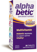 Buy Alpha Betic Multivitamin Plus Extended Energy 30 Tabs Abkit Online, UK Delivery, Cardiovascular Blood Sugar Formulas