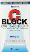 Buy C Block Carb / Starch Blocker 90 Caplets Absolute Nutrition Online, UK Delivery, White Kidney Bean Extract Phase 2 Diet Weight Loss