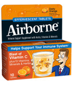 Buy Effervescent Tabs Zesty Orange 10 Tabs AirBorne Online, UK Delivery, Cold Flu Remedy Relief Immune Support Formulas