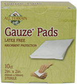 Buy Gauze Pads 10 Count 2 in x 2 in (50 mm x 50 mm) All Terrain Online, UK Delivery, Injuries Burns injury treatment Aches Pains