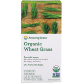 Buy Organic Wheat Grass Whole Food Drink Powder 15 Individual Packets 8 g Each Amazing Grass Online, UK Delivery, Gluten Free Green Foods Superfoods