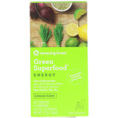 Buy Green SuperFood Energy Lemon Lime Drink Powder 15 Individual Packets 7 g Each Amazing Grass Online, UK Delivery, Energy Boosters Energy Drinks Mix Fatigue Treatment