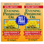 Buy Royal Brittany Evening Primrose Oil 1300 mg 2 Bottles 60 sGels Each American Health Online, UK Delivery, EFA Omega EPA DHA