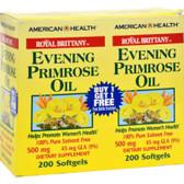 Buy Royal Brittany Evening Primrose Oil 500 mg 2 Bottles 200 sGels Each American Health Online, UK Delivery, EFA Omega EPA DHA