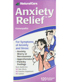 Anxiety Relief 120 Tabs Natural Care Homeopathic