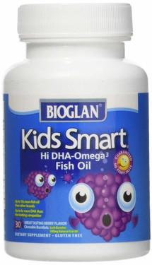 Buy UK Kids Smart Hi DHA-Omega 3 Fish Oil Berry Flavor 30 Chewable Burstlets Bioglan Online, UK Delivery, EFA Omega EPA DHA