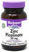 Zinc Picolinate, 50 mg, 100 Caps, Bluebonnet