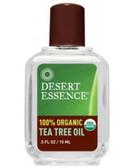 Tea Tree Oil 100% Organic 0.5 oz (15 ml) Desert Essence, Headaches, Antiseptic